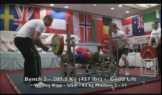 """Wesley (Jim) Kipp"" 5 Time Bench Press National Champion"