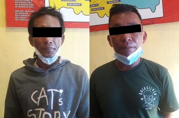 Polsek Seputih Surabaya Tangkap Dua Pelaku Pencurian Buah Kelapa Sawit