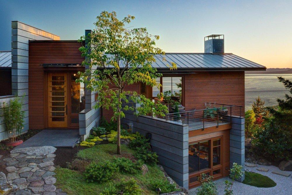 Hogares frescos volum trica casa contempor nea con vistas - Casas con terrazas ...