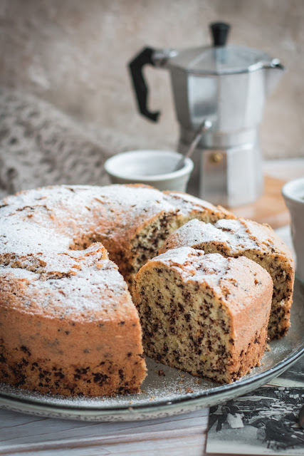Gâteau mousseline tigré (chiffon cake)