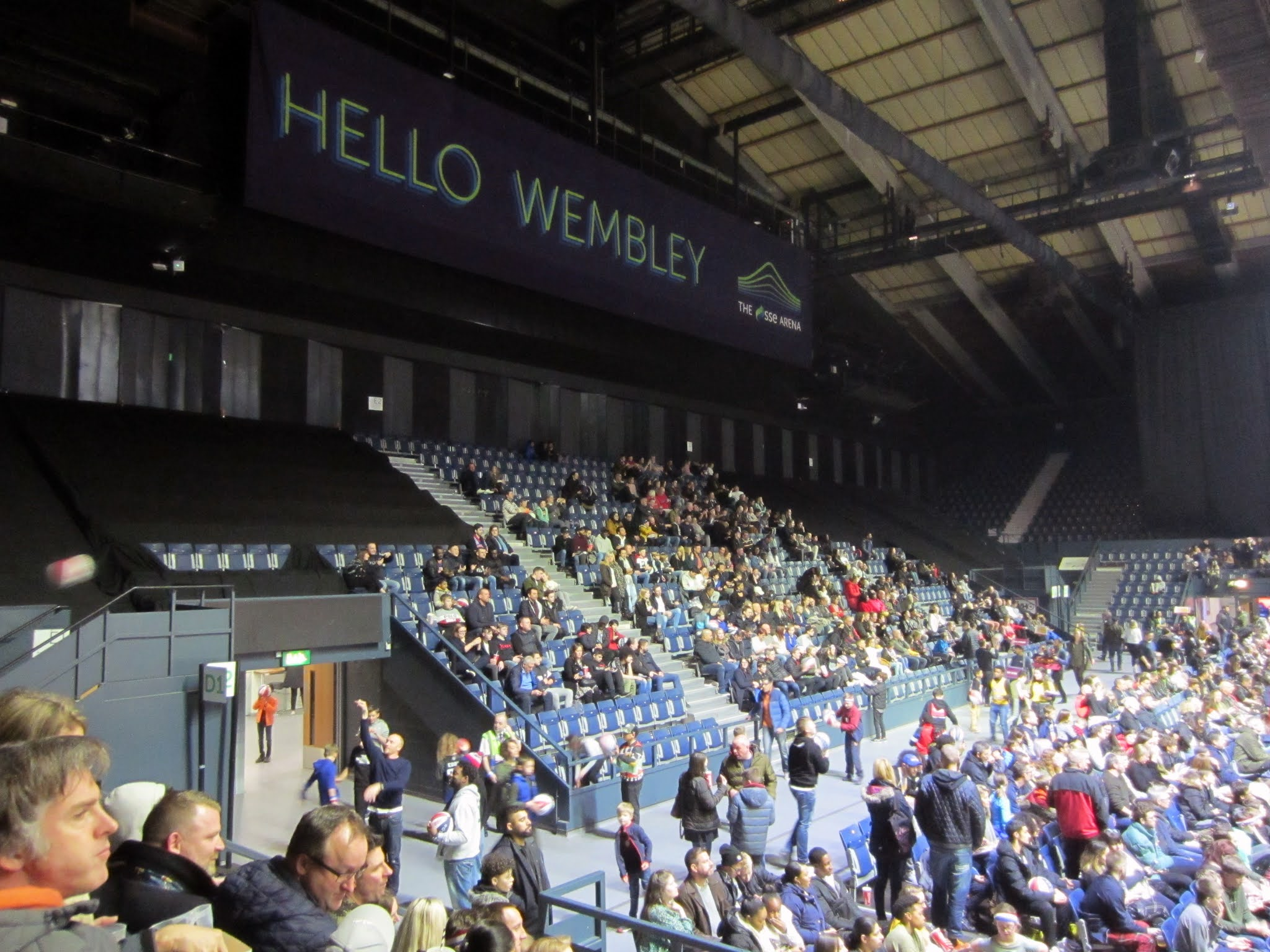 Spectator stand at The SSE Arena, Wembley
