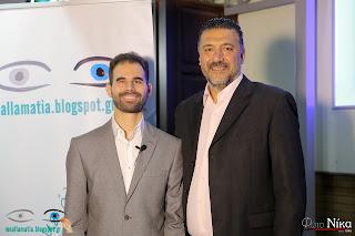 Ο Βαγγέλης Αυγουλάς και ο Αντιδήμαρχος Π. Φαλήρου Γιάννης Φωστηρόπουλος