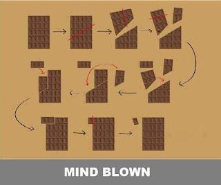coklat disusun segi empat