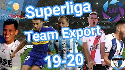PES 2018 PS3 Team Export Superliga Argentina 2019/2020