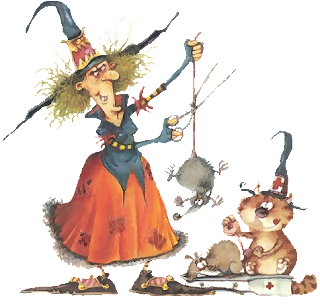 imágen bruja con ratón