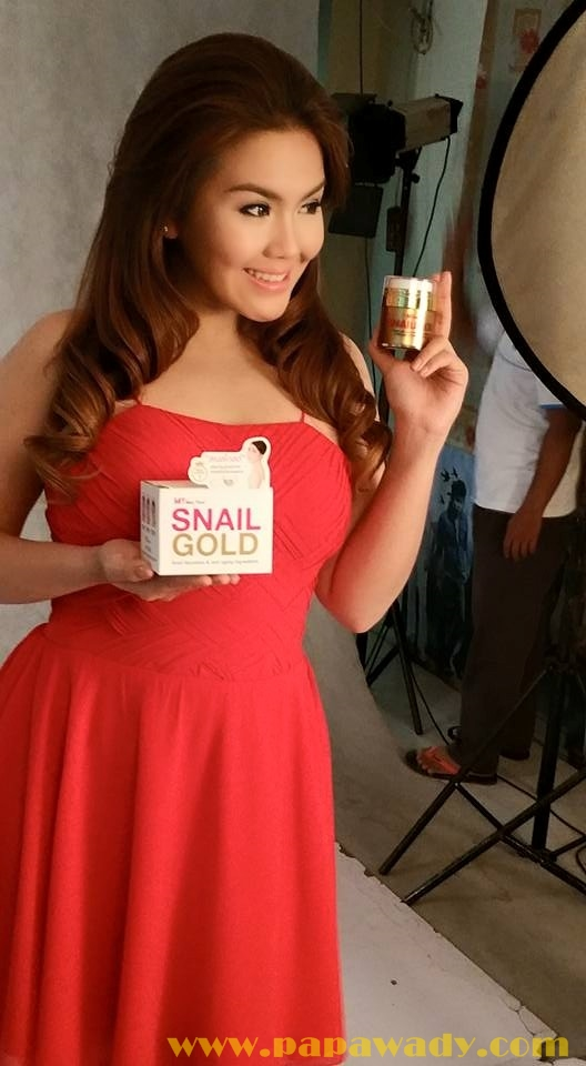 Ni Ni Khin Zaw's Snail Gold TV Ads Studio Photoshoot