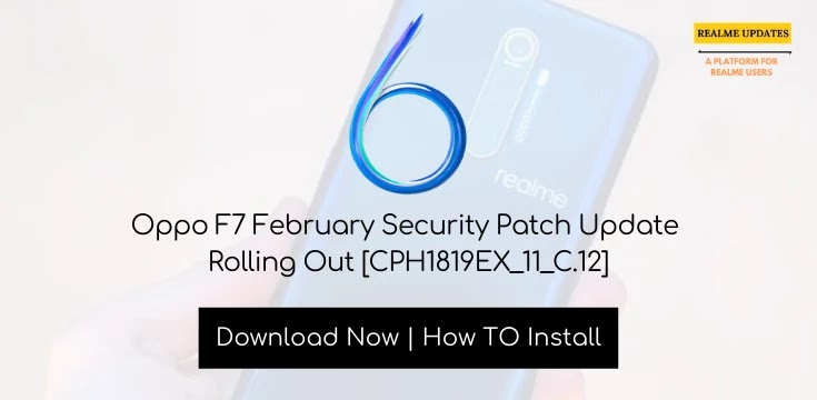 Oppo F7 February Security Patch