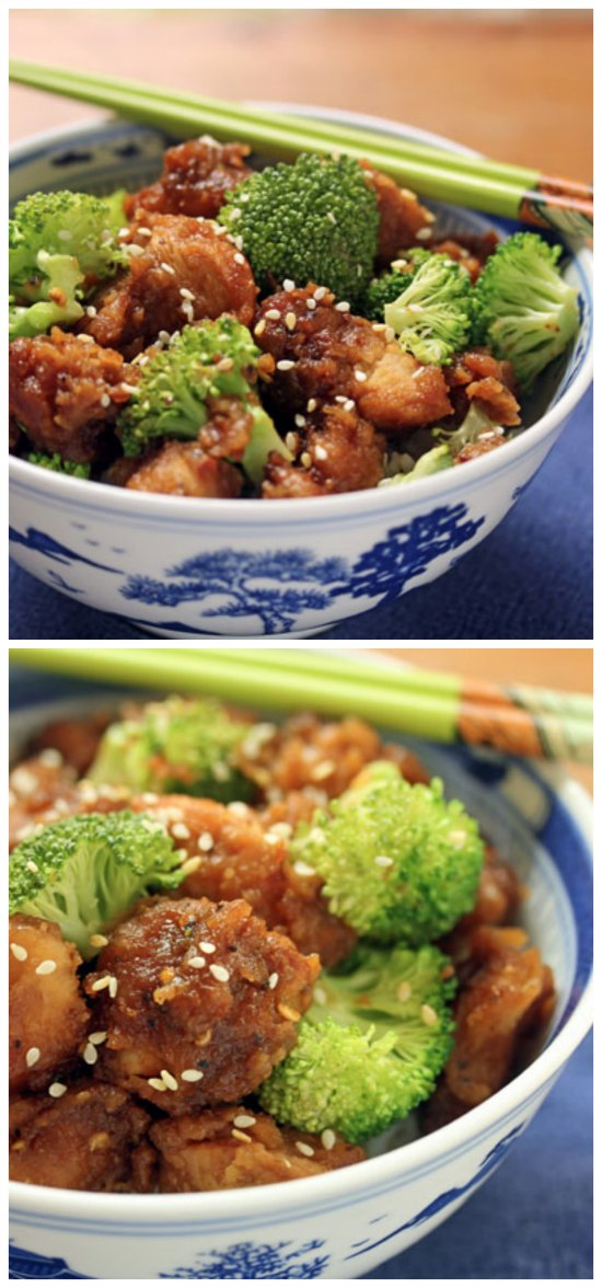 Slow Cooker General Gao's Chicken from the Perfect Pantry featured on SlowCookerFromScratch.com