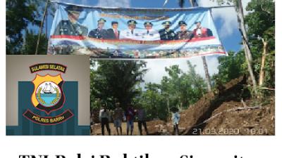 TNI-Polri Buktikan Sinergitas dengan Bangun Desa di Barru