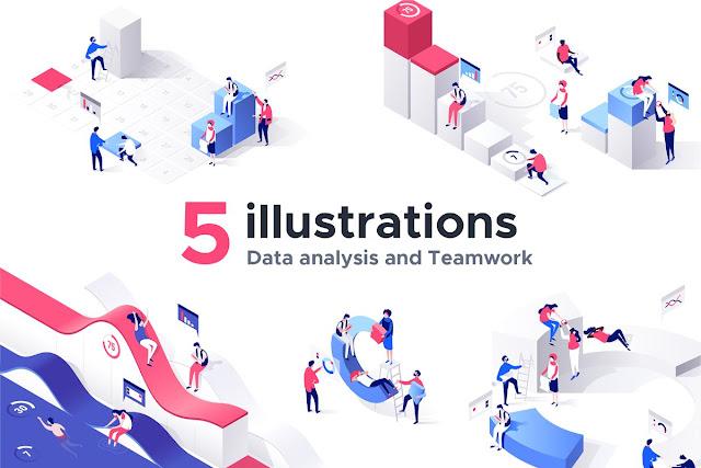 geniales-ilustraciones-isometricas-3D-illustrator-photoshop
