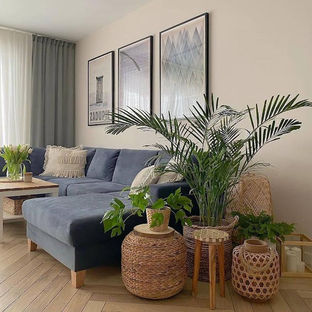 Dekorasi Ruang Tamu Minimalis Sederhana dengan Tanaman