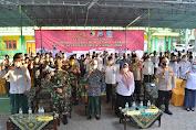 Serbuan Vaksin TNI di Ponpes Qomaruddin Bungah Gresik