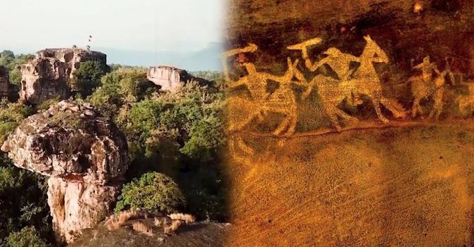 मध्यप्रदेश की भीमबेटका गुफ़ाओं में हजारों वर्ष पहले हुई अद्भुत चित्रकला और महाभारत से उनके संबंध का अनसुलझा रहस्य