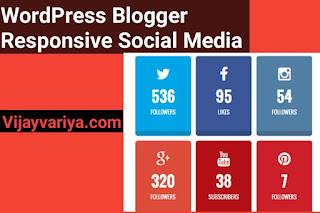WordPress Ya Blogger Par Responsive Social Media Follow Buttons (Widget) Kaise Add Kare