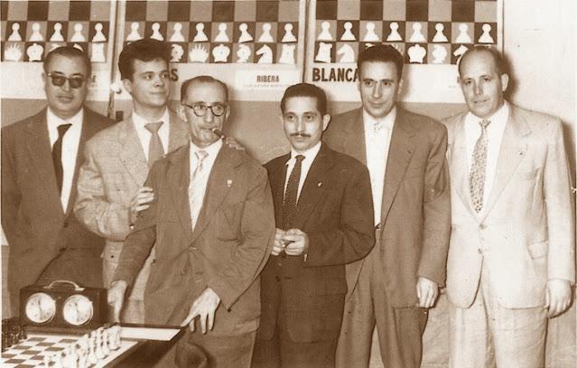 Equipo del Barcelona en el Campeonato de España de Ajedrez por equipos de 1960