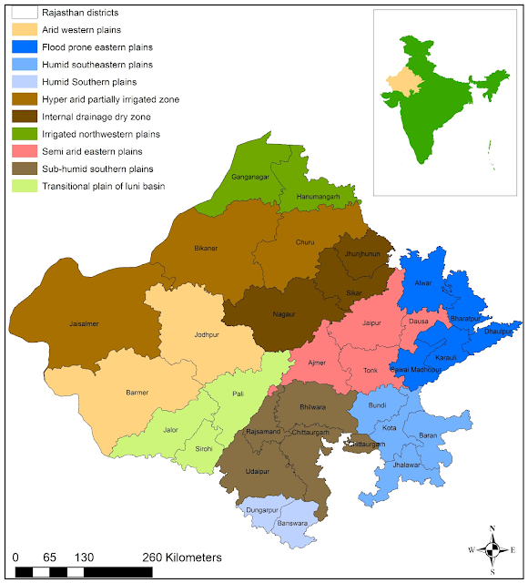 Agroclimatic Zones of Rajasthan