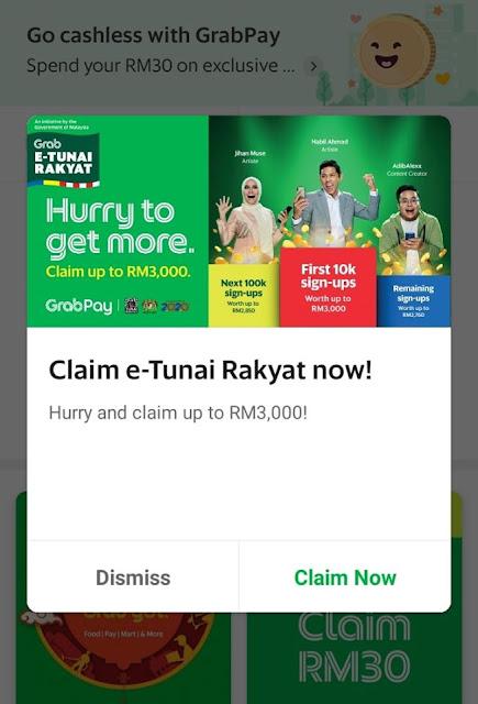 Tebus e-Tunai Rakyat Melalui Aplikasi eWallet