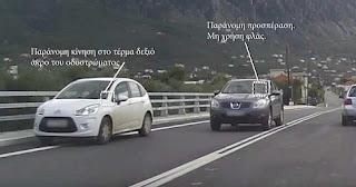 παραβάσεις που γίνονται καθημερινά στους ελληνικούς δρόμους