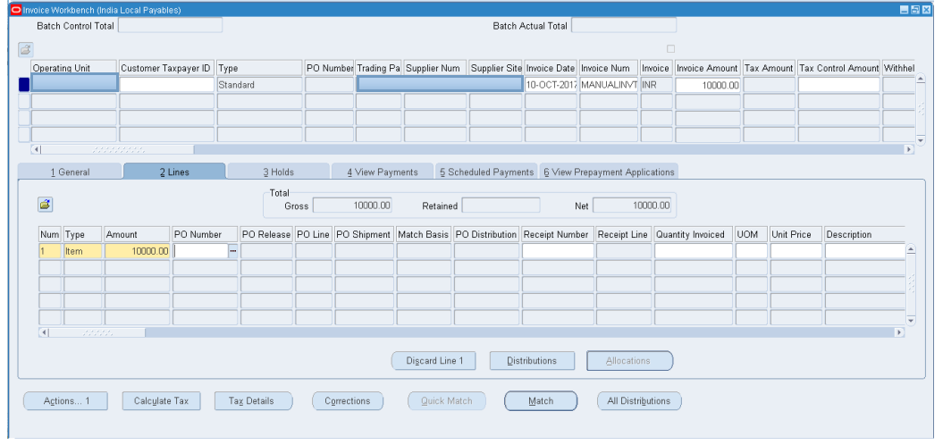 ORACLE MASTERMINDS: Manual AP Invoice Creation and Cancellation with GST