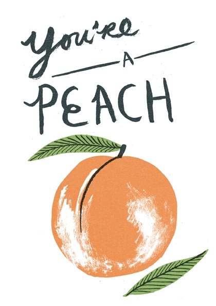 You're A Peach Illustration by Nnicholas John Frith