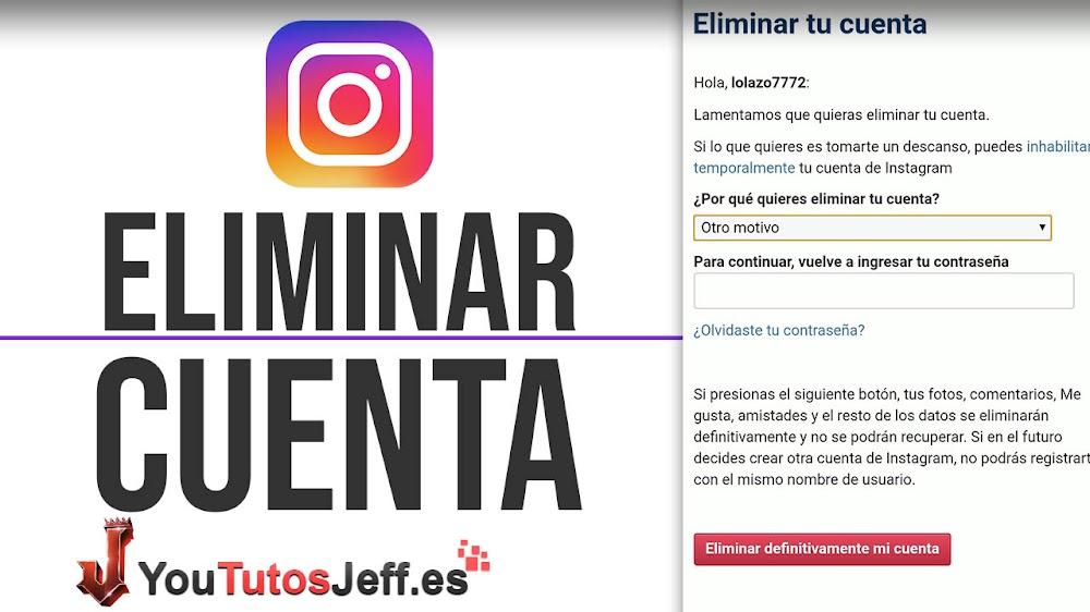 Como Eliminar mi Cuenta de Instagram para Siempre