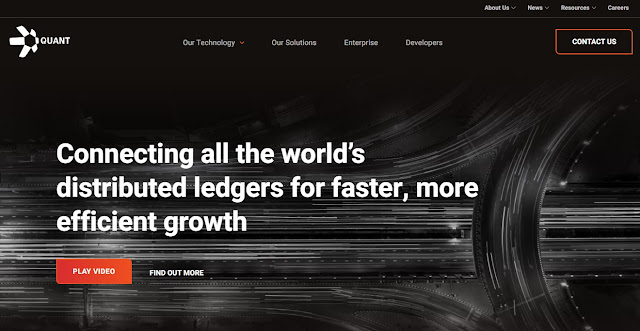 Screenshot Website Quant (QNT) Cryptocurrency