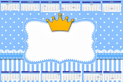 Coroa Príncipe Kit Completo Com Molduras Para Convites Rótulos