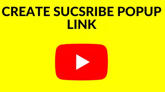 create youtube subscription popup link