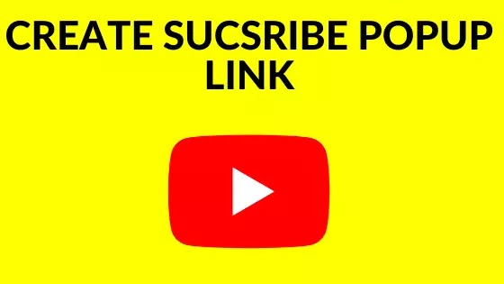 how to create youtube subscription popup link