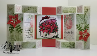 Our Daily Bread Designs Stamp Sets: Poinsettia Box, Christmas Card Verses, Paper Collection: Christmas 2018, Custom Dies: Double Display, Double Display Layers, Peaceful Poinsettias, Leaves and Branches, Pierced Squares, Squares