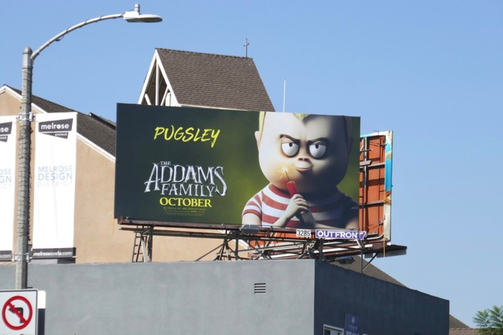 Addams Family film billboard
