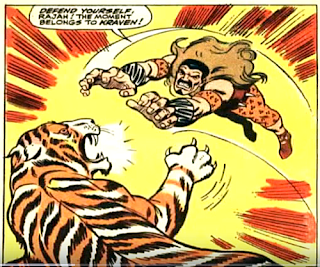 Amazing Spider-Man #49, john romita, Kraven attacks a tiger by leaping at it