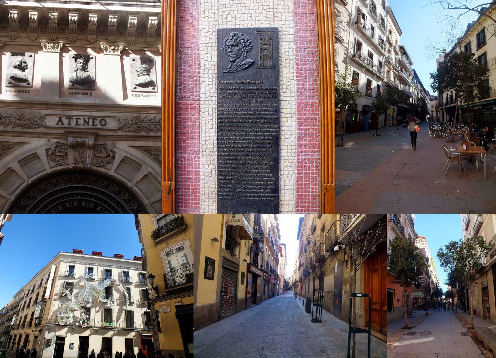 Barrio de las Letras en Madrid