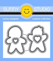 Sunny Studio Stamps Christmas Cookies Gingerbread Man and Girl Holiday Metal Cutting Dies