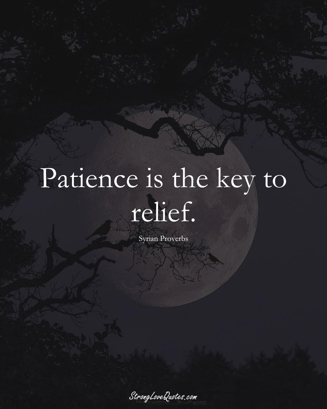 Patience is the key to relief. (Syrian Sayings);  #MiddleEasternSayings