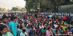 নূন্যতম ১৫ হাজার টাকা বেতনের দাবিতে কলকাতার রাজপথে গ্রামীন সম্পদ কর্মীদের বিশাল সমাবেশ
