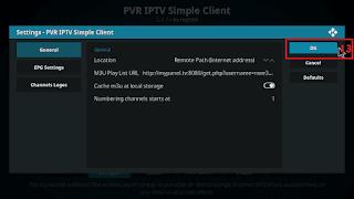 Cara menjalankan IPTV di KODI tahap 13