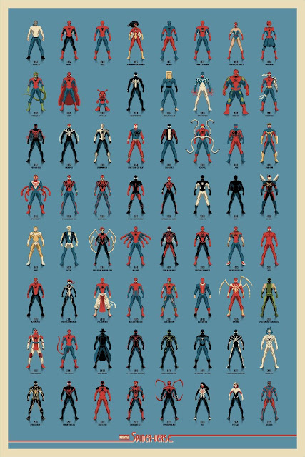 """Spider-Verse"" Marvel Spider-Man Variant Screen Print by DKNG x Mondo"