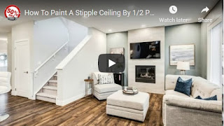 How To Paint A Stipple Ceiling