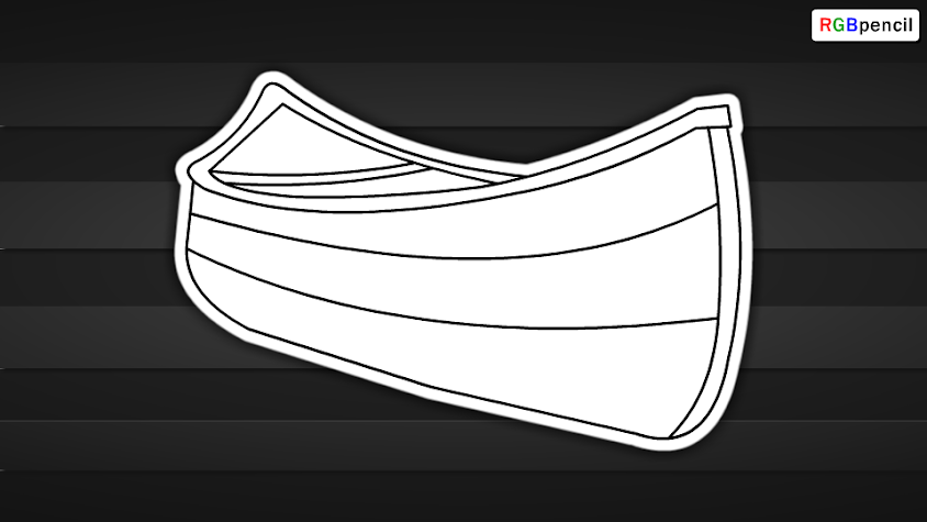 How To Draw Canoe Step By