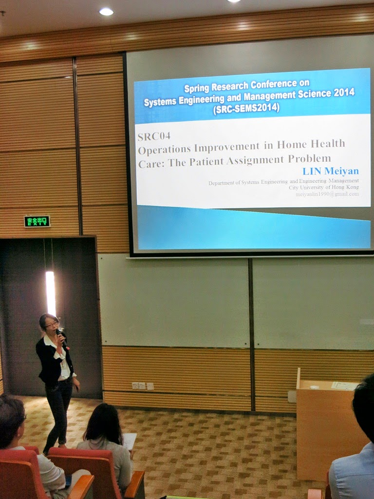 quality alchemist cityu spring research conference in healthcare session ms meiyan lin who was phd student under dr ks chin and her presentation topic d operations improvement in home health care