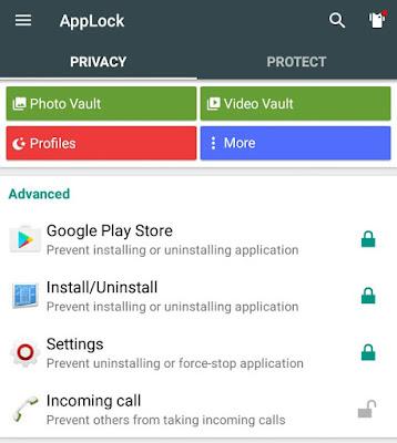 Lock settings and uninstalling