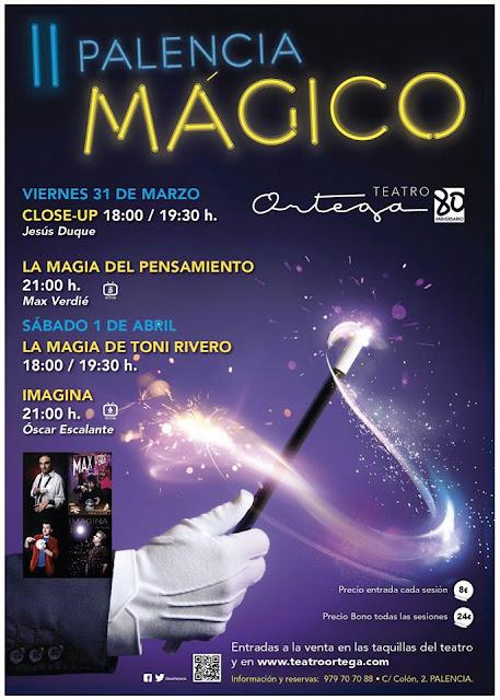 El mago Toni Rivero en el II Palencía Mágico