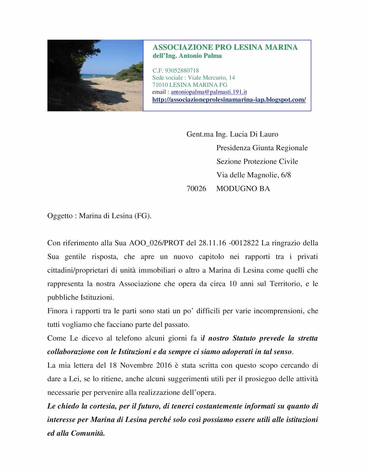Associazione pro lesina marina dell 39 ing antonio palma - Antonio palma ...
