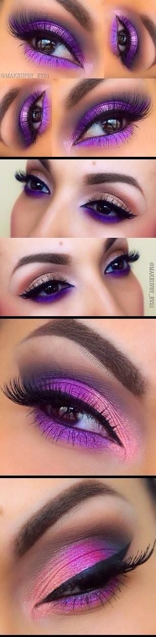 amazing pink eyes makeup idea