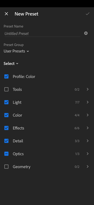 create own lightroom presets