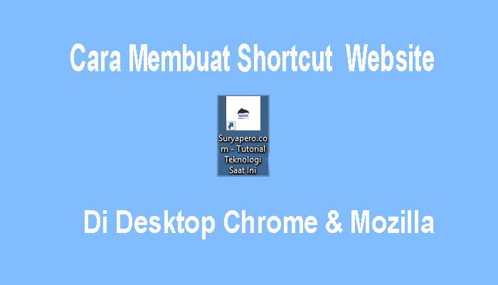 cara buat shortcut link website