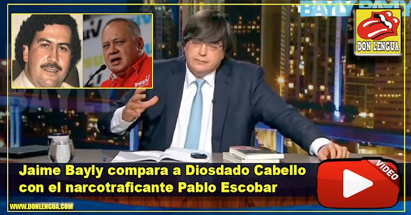 Jaime Bayly compara a Diosdado Cabello con el narcotraficante Pablo Escobar