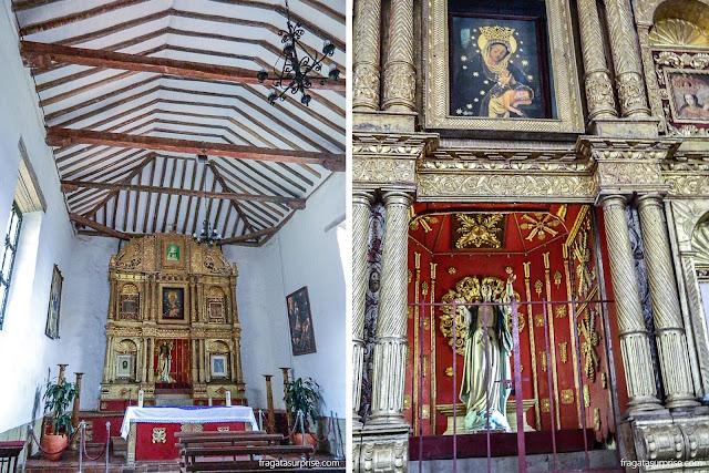 Altar barroco na capela do Mosteiro de Ecce Homo, Villa de Leyva, Colômbia