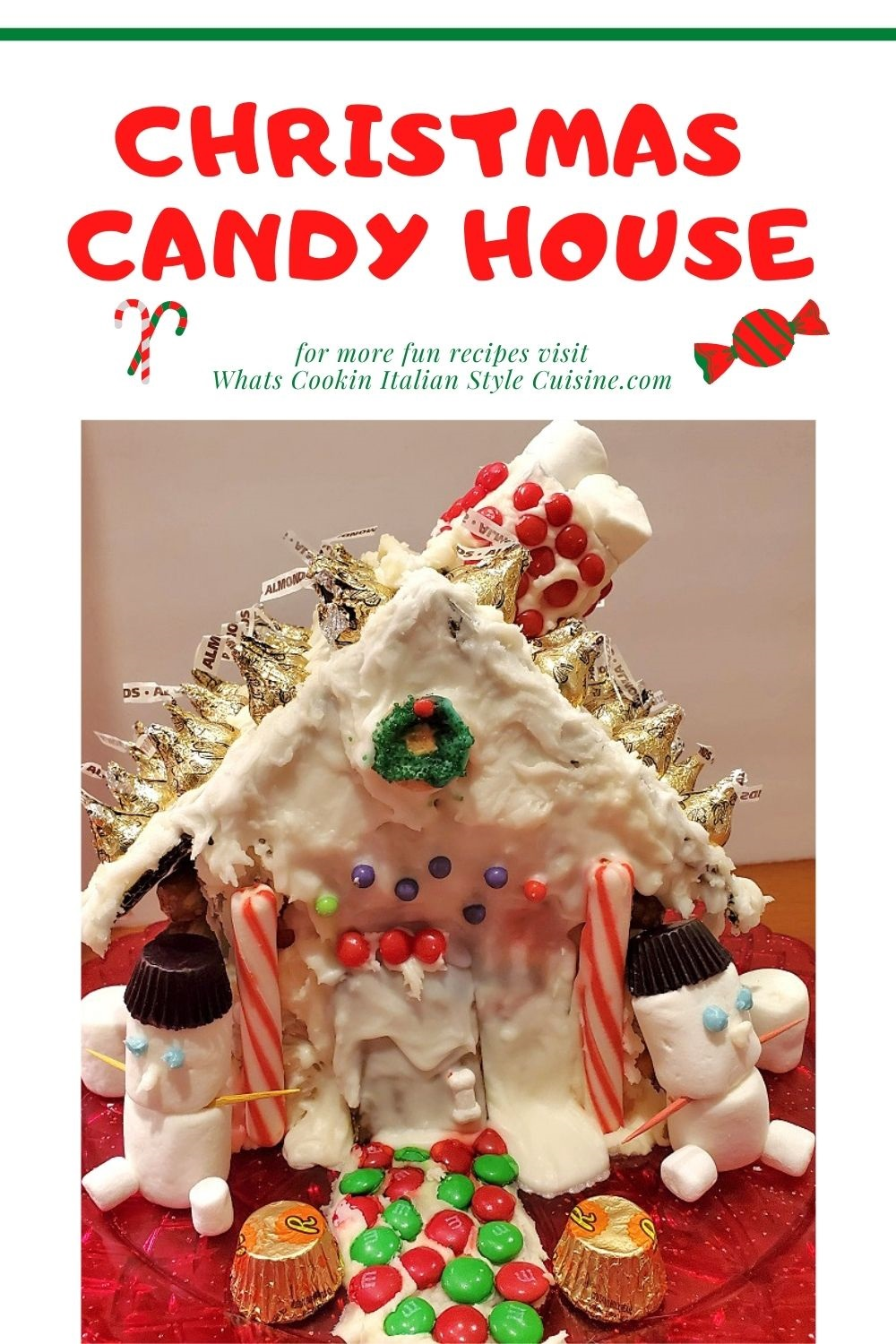 this is a pin for later christmas candy house and how to make one